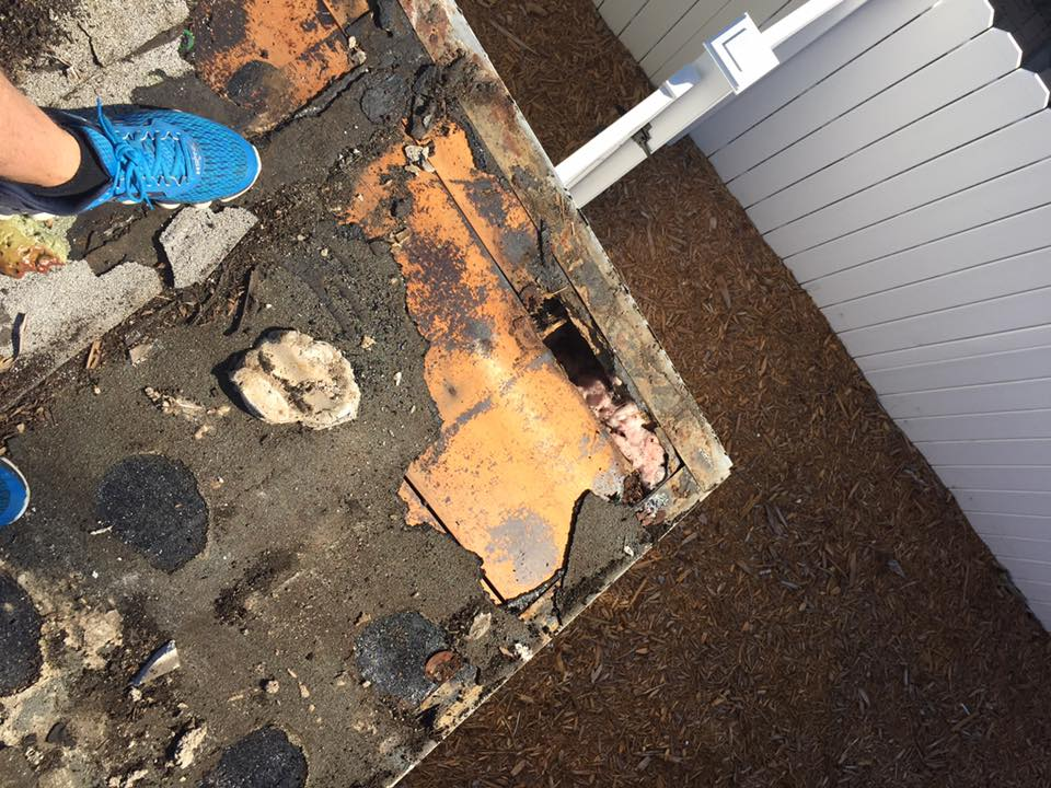 Roof repair urgently needed